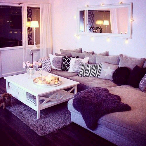 Purple living room.