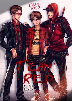 Teen Titans Cute Wallpaper Deadpool Myart Daredevil Marvel Team Red Spurruman Onac911