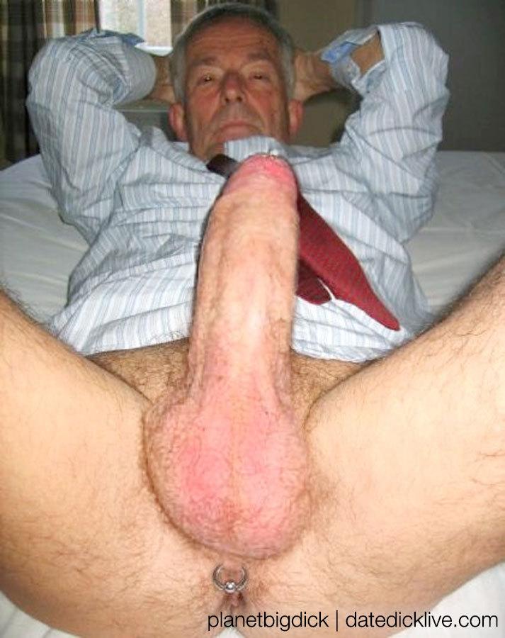 has a big grandpa cock