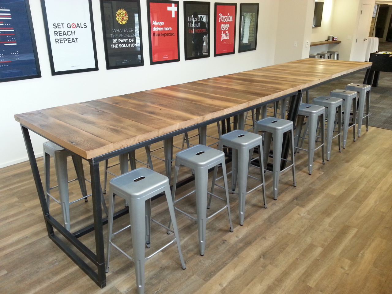 Grande Table Bar Re Dwell Custom Crafted Furniture Conference Room