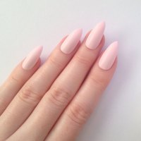 Matte Pastel Pink Stiletto nails, Nail designs, Nail art ...