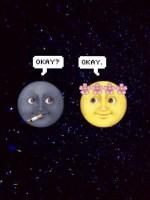 Moon Emoji Tumblr Wallpaper