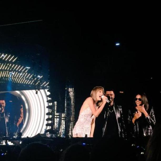 Taylor brought out Ciara and Russell Wilson to walk the Style catwalk with her tonight!
