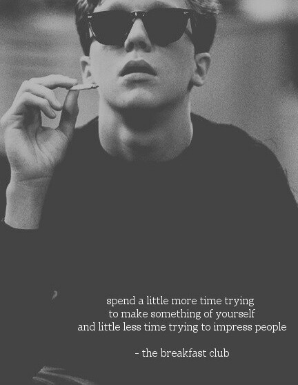 Breakfast Club Wallpaper Quote Spend Hipster Black White And Deep Quotes Quotesgram