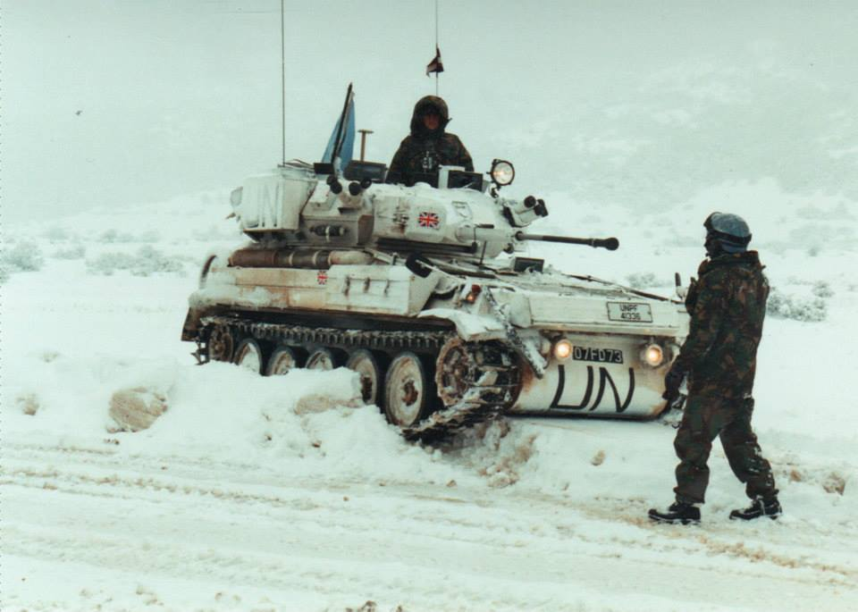 British peacekeepers in the depths of winter, Bosnia 1995 Nato - thank you letter for scholarship award