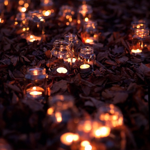 Rustic Mason Jar Fall Iphone Wallpaper Pretty Lights Light Hipster Vintage Boho Indie Fire Fall