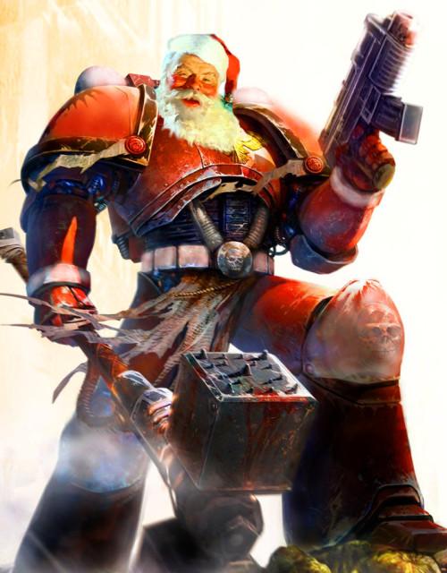 Santa Warhammer 40k Space Marine Version 3 by gothking85