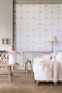 vintage room design Home pink retro Interior Living Room ...