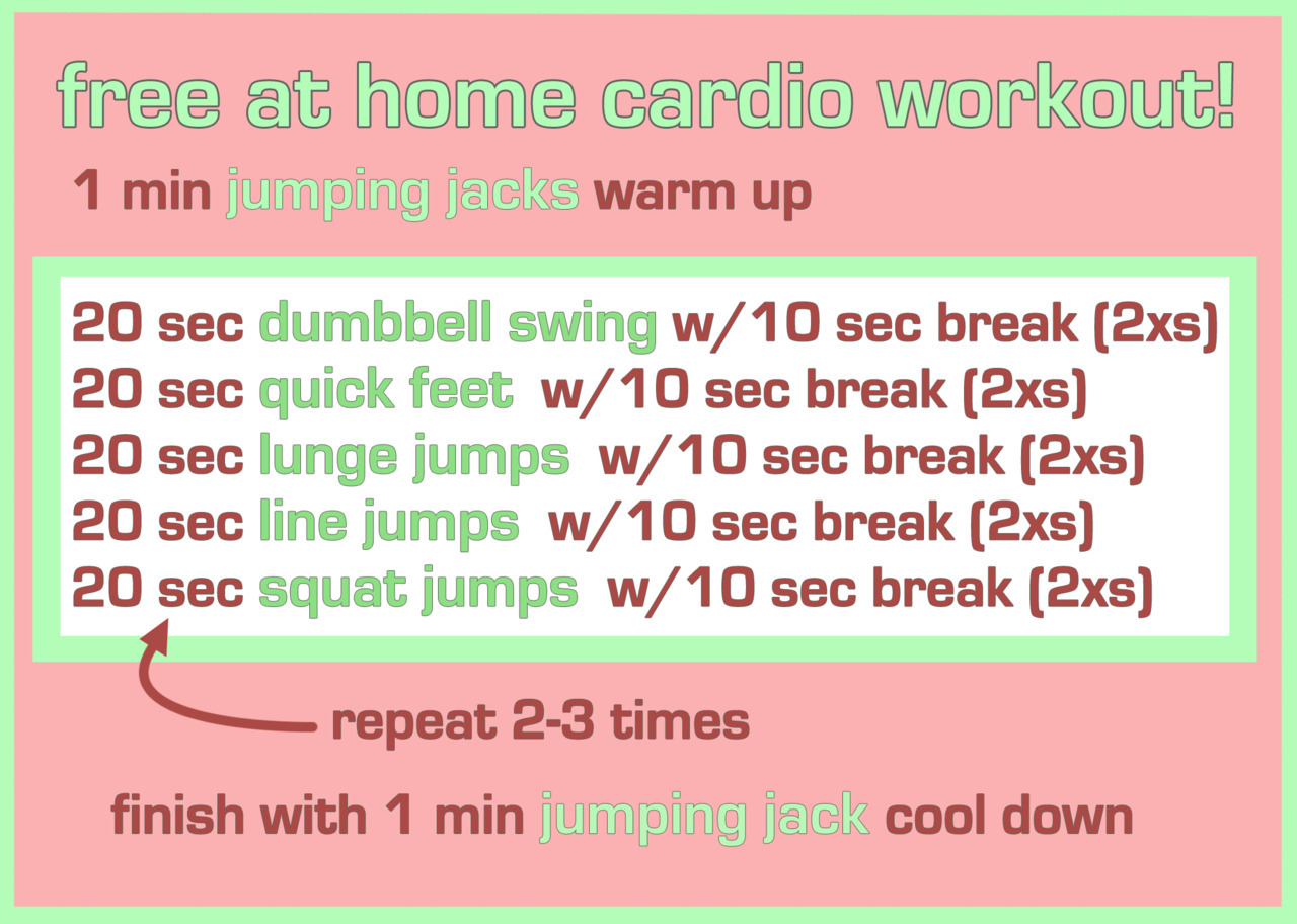 20 Minute At Home Cardio Workout Free At Home Cardio Workout Sometimes Its Hard