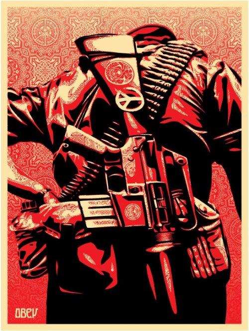 autopsiart:  Peace, soldier back de Shepard Fairey (Obey)