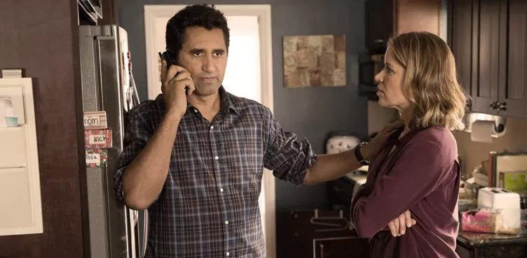Cliff Curtis als Travis Manawa und Kim Dickens als Madison Clark in Fear The Walking Dead - Staffel 1
