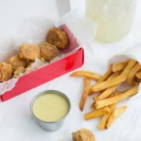 "Chick-fil-A Tofu Nuggets with Vegan ""Honey"" Mustard Sauce"