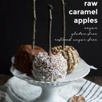 Raw Caramel Apples