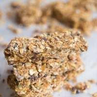 Peanut Butter Chocolate Protein Granola Bars (Vegan Option, GF)