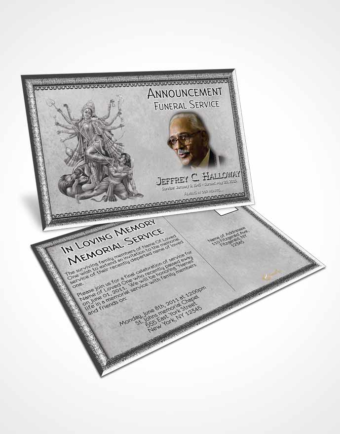 Bifold Order of Service Obituary Template Brochure Black and White - obituary cards templates