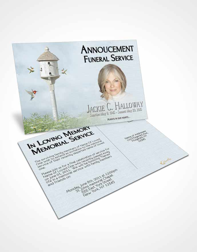 Announcement Cards Funeral Program Templates Archives