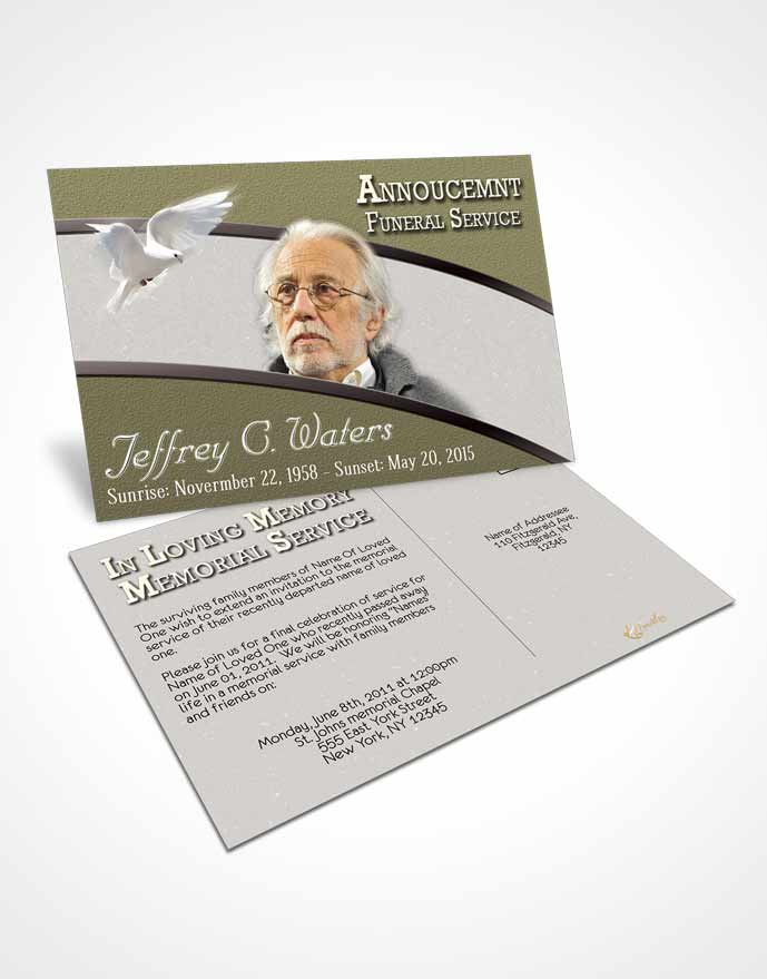Bifold Order of Service Obituary Template Brochure Rustic Clarity - funeral obituary template