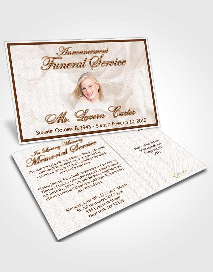 Funeral Service Template Funeral Bulletins Simple Elegant Frame - funeral service announcement template