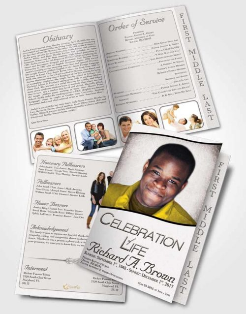 Bookmark Template Free Bliss - free template for funeral program