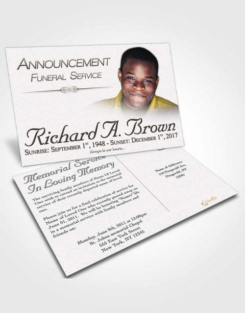 Bookmark Template Free Bliss - funeral announcement template free