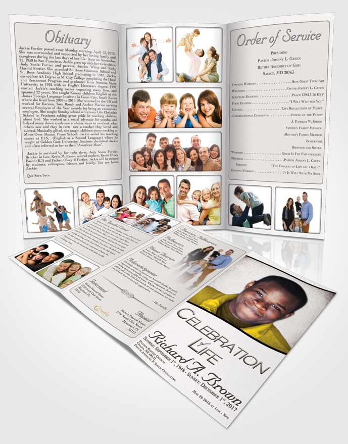 Funeral Program Templates - Editable Word Templates \u2022 FuneralParlour