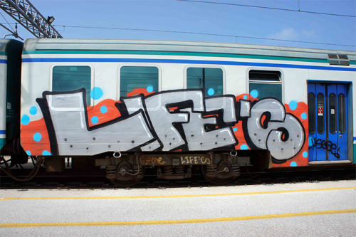 graffdonuts:  Hello guys, we're LIFE'S crew, composed and founded in 2007 by Bier, Nore, and Punes, then other elements were subsequently added such Losko, Dien, Moek, Seme, Blunt, Hello, True, Flo, Tomas and Olmo…Check whole interview on GRAFFDONUTS.COM