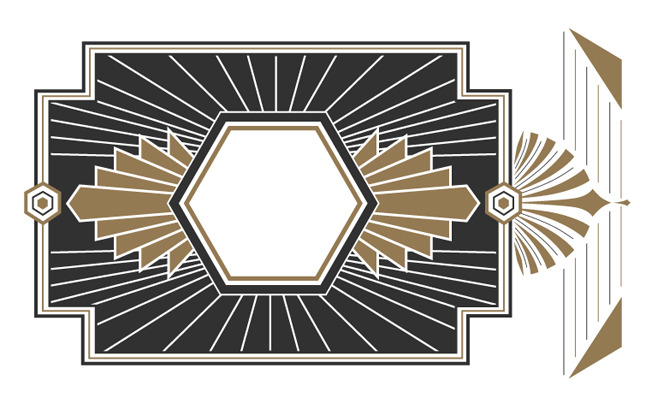 Art Deco themed stationery Current projects Pinterest - engagement invitations online templates
