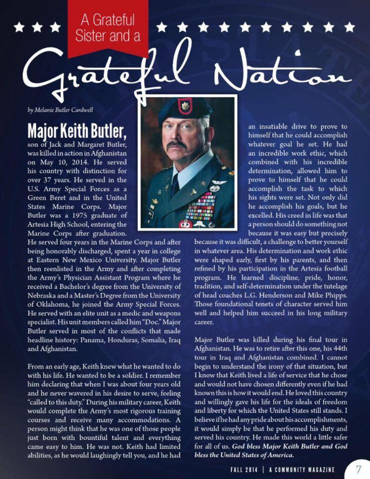 Major Keith Butler, a true titan among titans RIP Thank you for - how to write sponsor letter
