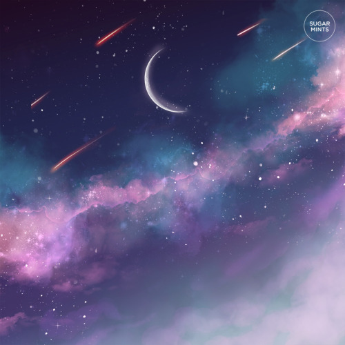 Cute Quote Desktop Wallpaper My Art Moon Space Galaxy Universe Cherry Blossom Artists