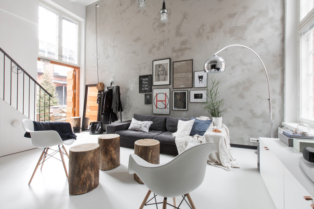 Abo Living At Home Home Decor Interior Loft Kitchen Grey Living Space Decorating Loft