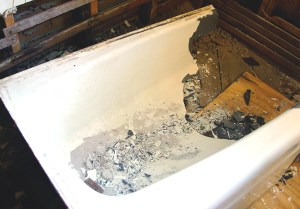 how to remove a cast iron bathtub. Black Bedroom Furniture Sets. Home Design Ideas
