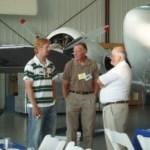 Artist-Charles-Father-Chuck-Taylor&Bob-Borrell, Night Fighter Memorabilia
