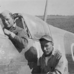 TSGTs Neel & Peters in Spitfire at Borgo 1944