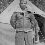 Pete in Winter Flight Jacket-LeVallon 1944 photo