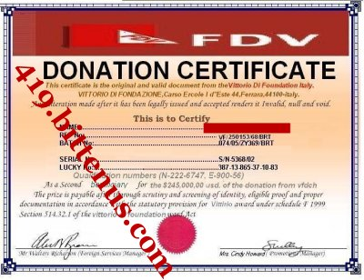 Watch out for donation scams - donation certificate template