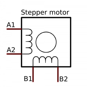 4 wire stepper motor pinout