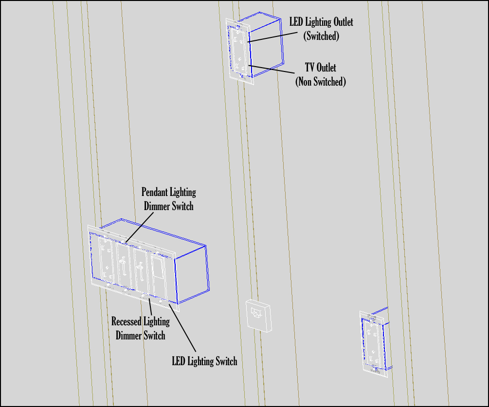 wiring diagram for wall mounted tv