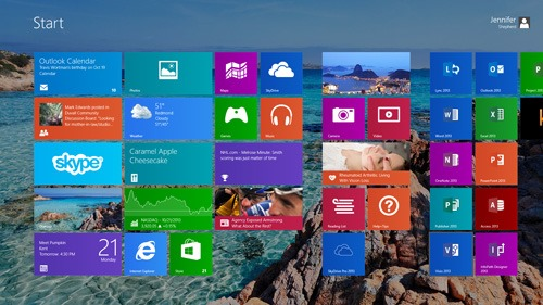 Windows themes and wallpapers \u2013 now on your Start screen, too