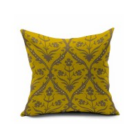 Yellow Vintage Floral Pillows,Morocco Accent Pillow Covers ...