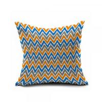 Blue And Orange Abstract Geometry Pillow Covers 20x20 ...