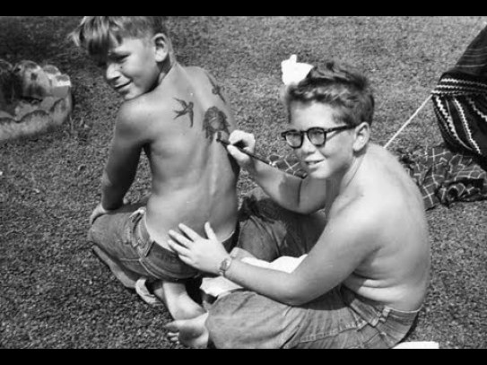 Tattooist Ed Hardy as a young pup.