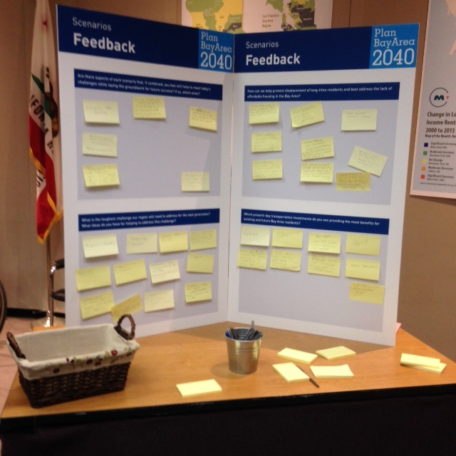 Community input? Yes, those are post-it notes