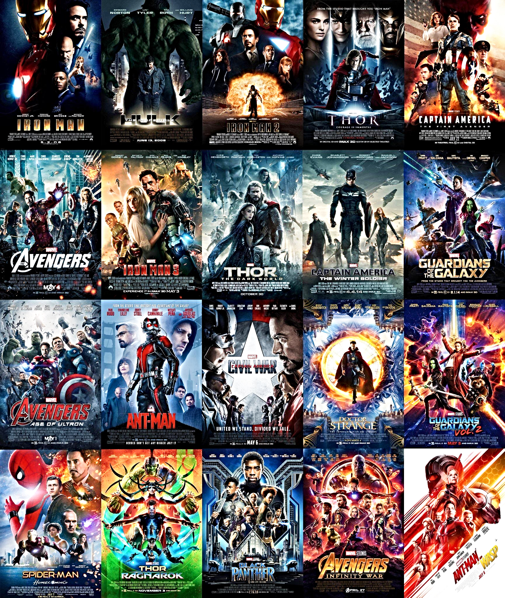 Movel Moveis List The Longest Marvel Movie Run Times For All 22 Mcu Films By