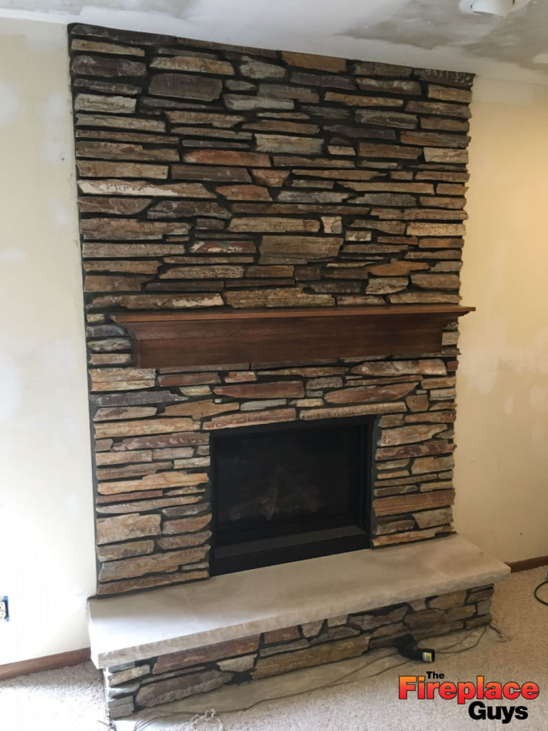 Installing Cultured Stone Fireplace Large Limestone Hearth The Fireplace Guys