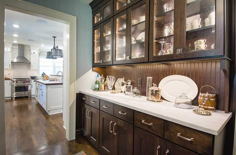 How To Build A Kitchen Pantry Cabinet Updated Farmhouse Kitchen Integrates Butler's Pantry And