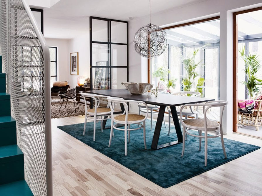 Decoration Interieur Suedois Scandinavian Style Interior With Turquoise Blue Accents