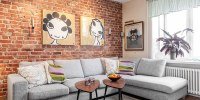 Swedish Style Interior Decorated with IKEA Furniture and ...