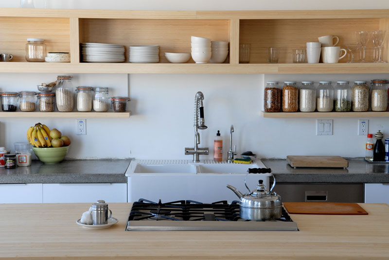 55 Open Kitchen Shelving Ideas with Closed Cabinets - kitchen shelving ideas