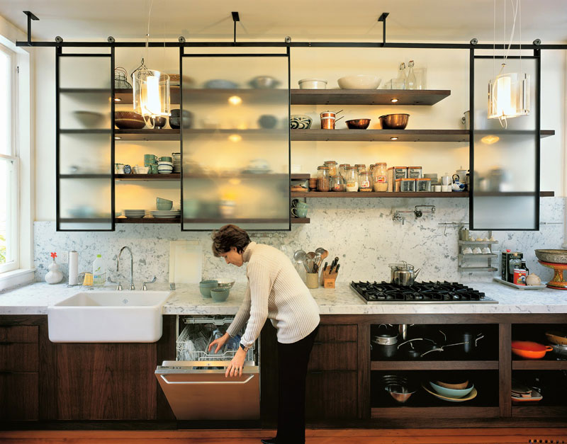 55 Open Kitchen Shelving Ideas with Closed Cabinets - open kitchen shelving ideas