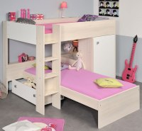 6 Low Bunk Beds with Storage for Low Ceilings